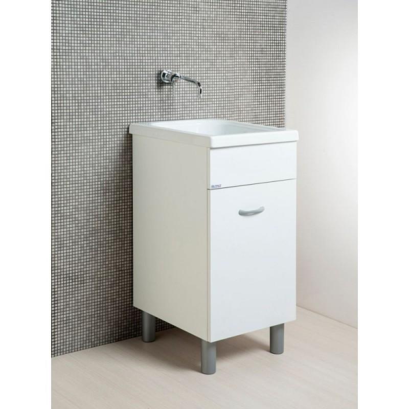 Mobile lavatoio con vasca in ceramica cm 45x50 H84cm - 1