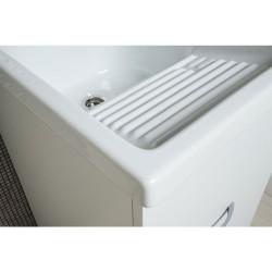 Mobile lavatoio con vasca in ceramica cm 45x50 H84cm - 2