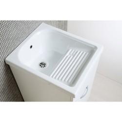 Mobile lavatoio con vasca in ceramica cm 45x50 H84cm - 3