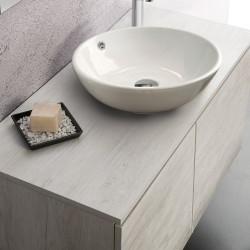 Mobile sospeso 90X46 , per lavabo d'appoggio. Varie tonalità Olmo . - 1