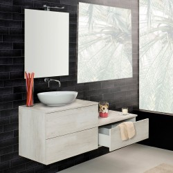 Mobile sospeso  70X46  con cassetti , per lavabo d'appoggio in ceramica - 1