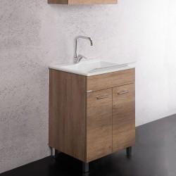 Mobile lavatoio 60X50 con vasca Zeus in Metacrillato - 2