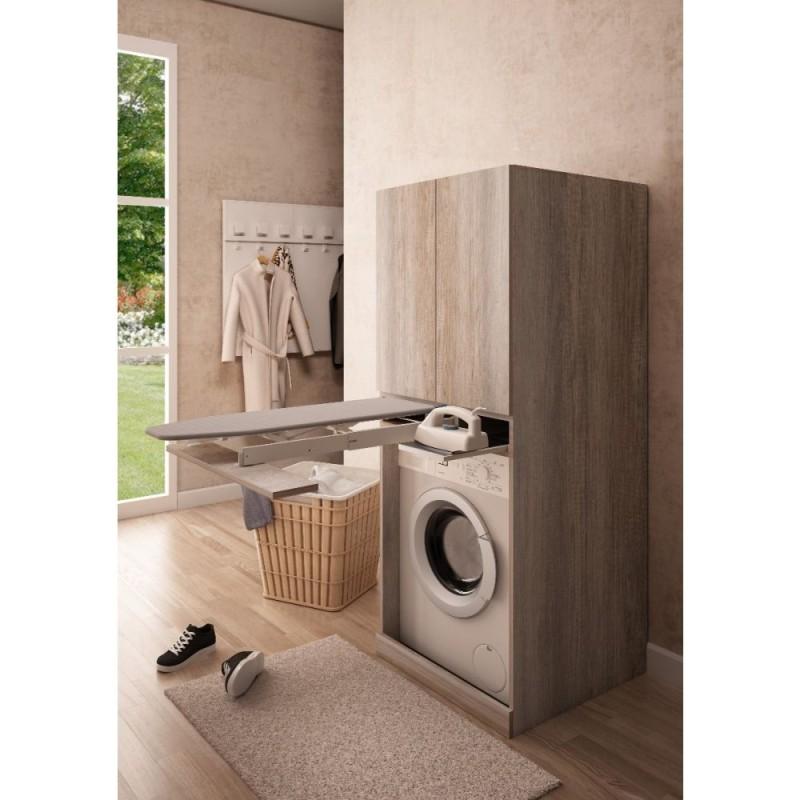 Colonna per inserimento lavatrice con asse da stiro estraibile integrata - 1