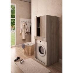 Colonna per inserimento lavatrice con asse da stiro estraibile integrata - 3