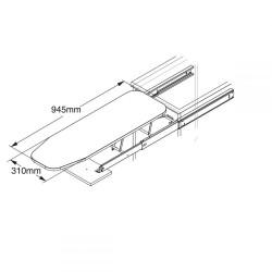 Colonna per inserimento lavatrice con asse da stiro estraibile integrata - 4
