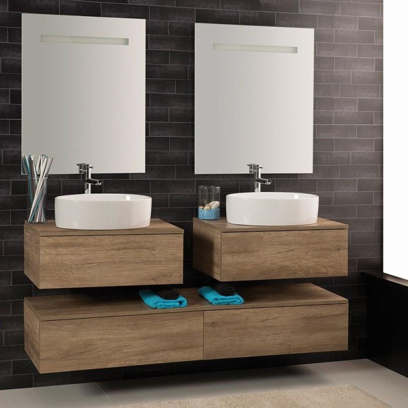 Composizione sospesa 160x46 per lavabo d'appoggio - 1