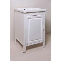 Mobile lavatoio in Abs  e vasca in ceramica cm 45x51  con strofinatoio integrato - 2