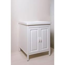 Mobile lavatoio in Abs  con  vasca in ceramica cm 61x61  ,con strofinatoio integrato. - 1